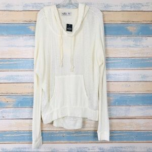 NEW Hollister • Oversized Cream Knit Hoodie XS/S